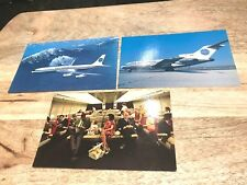 Pan Am's New 747-707-Postcards x 3-1970's-Pan Am-USA-New Mint-Rare set.
