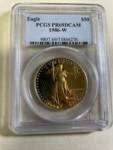 1986-W $50 Gold American Eagle PROOF (PR-69 DCAM) PCGS! GOLD! NO RESERVE! LOOK