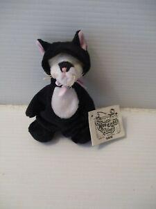 Ganz Wee Bear Village Teddy Bear Dressed in Black Cat Costume Frisky MInt 1999