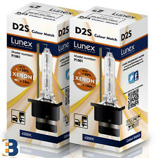 2 x D2S Genuine LUNEX 4300K XENON BULB P32d-2 Original 35W 4300K Colour Match+50