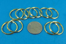 "NEW KEY RINGS Lot of 10   1"" ( 24mm )  Split Key Ring  NICE GOLD METAL FINISH"