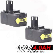 2x 4.0AH 18V Li-ion Battery for RYOBI One Plus RB18L25 RB18L50 P108 P107 P104