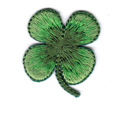 """Four Leaf Clover (1 1/4"""") Iron On Embroidered Patch St. Patrick Shamrock"""
