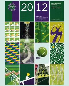2012 Wimbledon Tennis Tournament  Ad Poster, 8x10 Color Photo