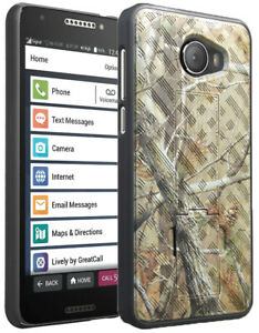 Camo Tree Leaf Real Woods Case Kickstand Cover for GreatCall Jitterbug Smart2