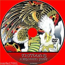 LEARN THE ART OF TATTOOs DVD STEP BY STEP TATTOOING VIDEO BEGINNERS GUIDE NEW