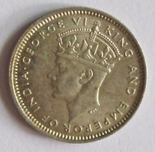 un005 1941 Commissioners of Currency Malaya 10 Cents Silver Coin EF