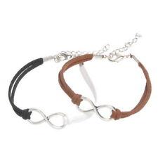 Unendlichkeit Modeschmuck-Armbänder aus Leder und Metall-Legierung