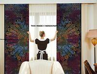 Indien Paon Mandala Teinture Panneau Salle à Manger Onglet Haut Luxe Fenêtre