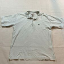 Lacoste Polo Shirt Adult Size 6 XL Beige Crocodile Cotton Casual Rugby Mens