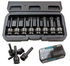 Us Pro 8pc 1/2 Impact Torx TRX-Star Socket Bit Set T30-T80 Cr-Mo 80mm long B3315