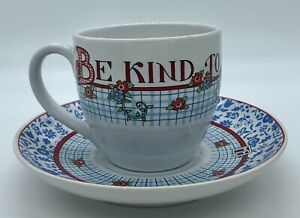 Mary Engelbreit Cup And Saucer Tea Or Coffee Be Kind To Thy Sister Mint ME