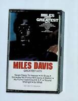Miles Davis Greatest Hits Cassette Tape