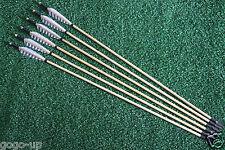 6Pcs Turkey Feather Wood Shaft Arrow Archery Hunting Recurve Bow Steel ArrowHead