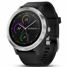 Garmin Vivoactive 3 GPS Fitness Smartwatch Tracker, Black/Stainless 010-01769-01
