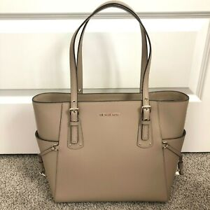 Michael Kors Voyager East West Truffle Leather Tote $228