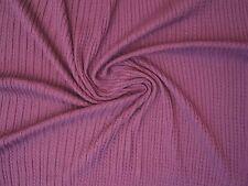 Stoff Fein Strickstoff Baumwolle Zopf Rippe Feinstrick lila Meterware