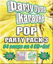 Party Tyme Karaoke - Pop Party Pack 3 64-song Party Pack [4 CD] BRAND NEW