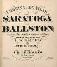 1876 Saratoga Ballston maps plat New York old Genealogy Atlas Land Owners Dvd