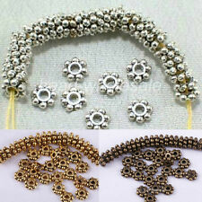 Wholesale Lots 300 pcs 6mm Tibetan Silver Daisy Spacer Beads Jewelry Making