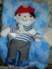 LOT 2 BLANKET & SECURITY BOY DOLL BASEBALL NEW BABY GEAR CAP STARS SPORTS PLUSH