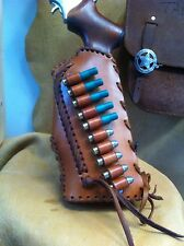 Leather gunstock Butt Stock cover shell holder Rossi circuit judge Cowboy Hunt
