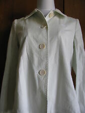 Lacoste Women's White Gray Cotton Blazer Made in France Size 38  US 6
