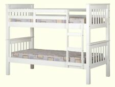 NEW  WHITE NEPTUNE BUNK BED CAN BE 2 SINGLE BEDS
