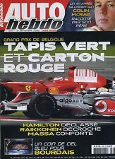AUTO HEBDO n°1665 du 10 Septembre 2008 GP BELGIQUE COLIN MAC RAE MONT BLANC