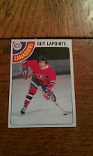 1978-1979 GUY LAPOINTE Montreal Canadiens TOPPS HOCKEY TRADING CARD NHL #260 old
