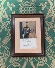 Antique Hand Signed Photograph King George VI & Queen Elizabeth Autograph Photo