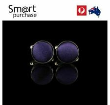 Mens Colours Round Cloth Cufflinks Business Shirt Wedding Party Men z