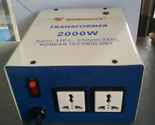 TRANSFORMATEUR CONVERTISSEUR 110V VERS 220V 2000W SORTIE 220V - 120V vers 220v
