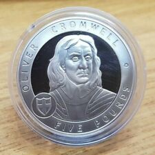 2007 Guernsey 1 oz .925 Silver Proof Five Pound Coin Oliver Cromwell