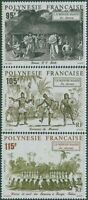French Polynesia 1992 SG644-646 Maori Traditional Dances set MNH