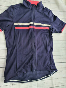 Rapha Cylcling Top Large  blue with 2 stripes