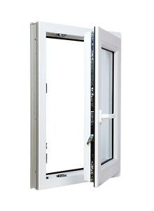 Finestre in PVC Aluplast ID 4000 BIANCO ad 1 Anta&Ribalta a 3 vetri 800x1400 x 3