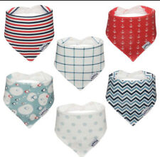 Set Of 6 Baby Bandana Drool Bibs for Boys Girls Super Absorbent Soft Great Gift