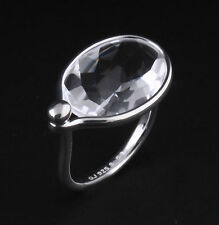 Georg Jensen Sterling Silver Savannah Ring with Rock Crystal # 628, V. Torun.