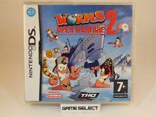 WORMS 2 OPEN WARFARE NINTENDO DS DSi 2DS 3DS PAL EU EUR ITALIANO NUOVO SIGILLATO