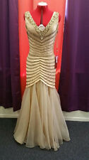 GOLD Elegant Evening Dress/Gown with accented sequencing!
