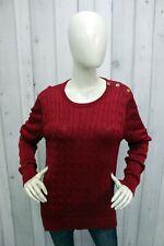 RALPH LAUREN Taglia XL Maglione Donna Sweater Cotone Pullover Pull Casual Woman