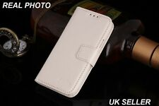 Samsung Galaxy S3 White Case Cover Premium Genuine Real Leather Stand Up Wallet
