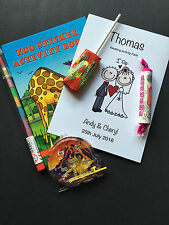 Personalised Childrens Kids Wedding Favour Activity Pack Book, sweets