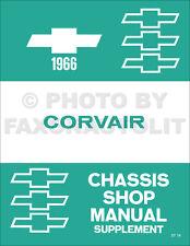 1966 Chevy Corvair Shop Manual Supplement Chevrolet Repair Service Monza Corsa