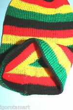 New Unisex Knit Ski Cap Hip-Hop Jamaican Rasta Stripe Winter Warm Head Hat UK