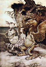 Alices Adventures in Wonderland THATS curieux Arthur Rackham art POSTER print