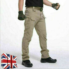 Men Waterproof Cargo Trousers Tactical Combat Windproof Hiking Work Casual Pants