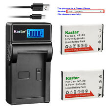 Kastar Battery LCD Charger for Casio NP-20 BC-11L & Casio Exilim EX-Z7 EX-Z70
