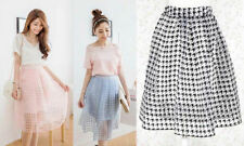 Polyester Plaids & Checks A-Line Skirts for Women